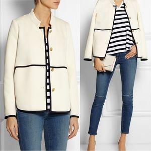 J. CREW Tipped Twill Blazer Jacket Size 0